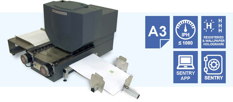 hologram stamping machine paper