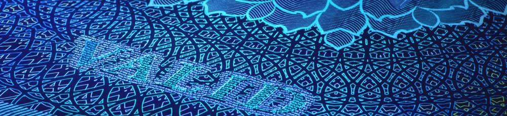 紫外線セキュリティ印刷