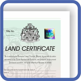 Property Registration Certificate